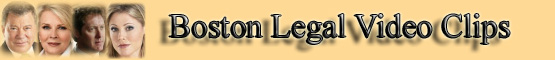 Boston Legal Video Clips banner