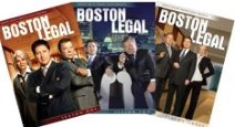 DVD covers for all three Boston Legal seasons