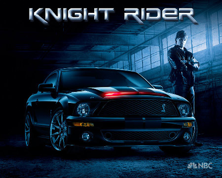 Knight Rider car and Justin Bruening